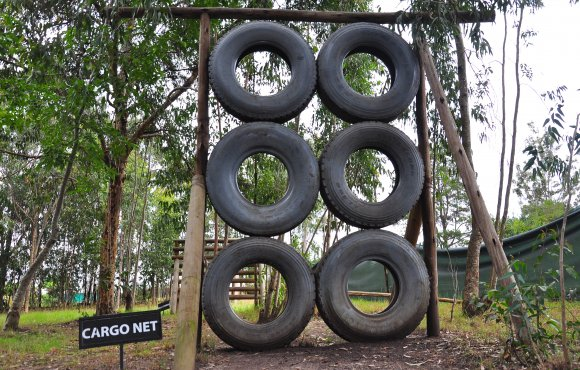 Cargo net obstacle course